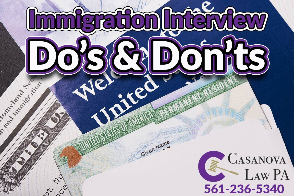 Immigration Interview Tips